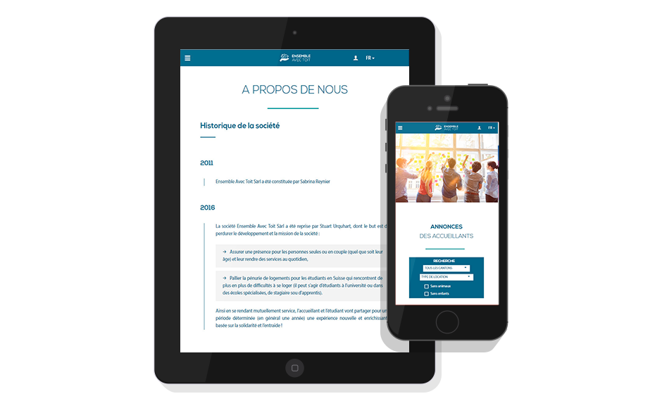 Responsive mobile site Ensemble avec toit