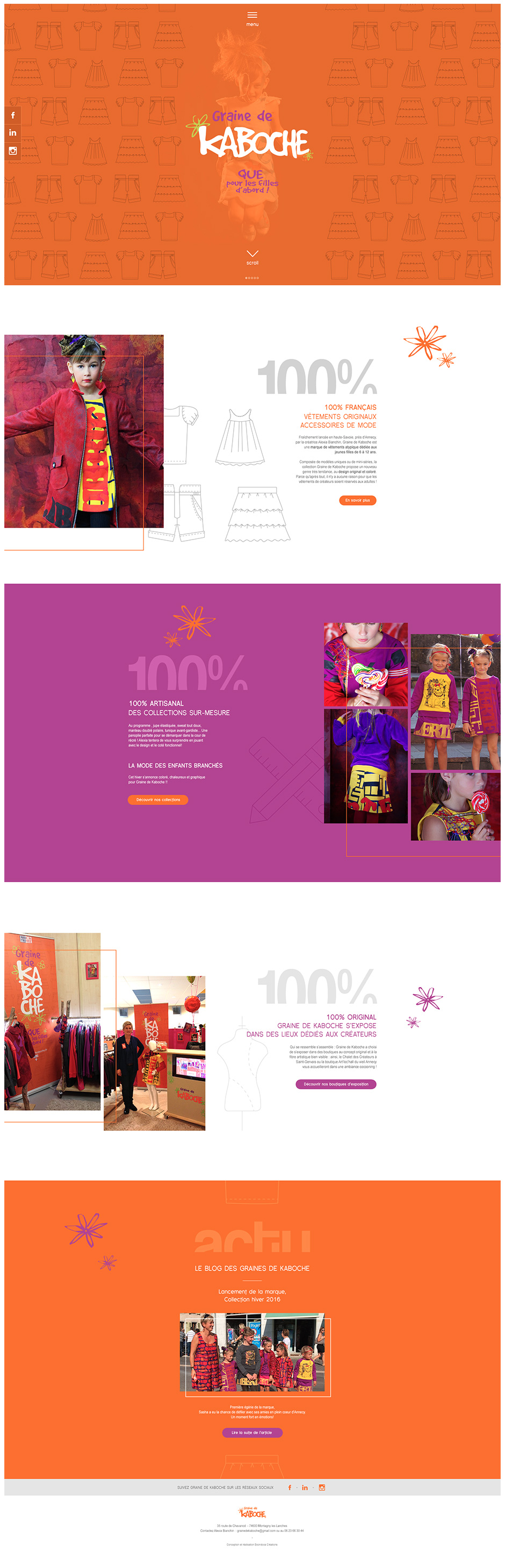 Homepage site Graine de Kaboche