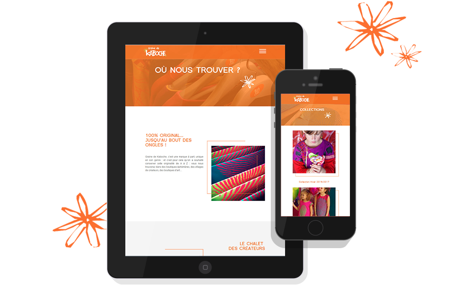 Responsive mobile site Graine de Kaboche