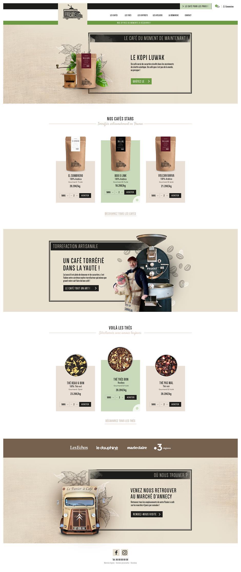Webdesign & site web Le panier à café