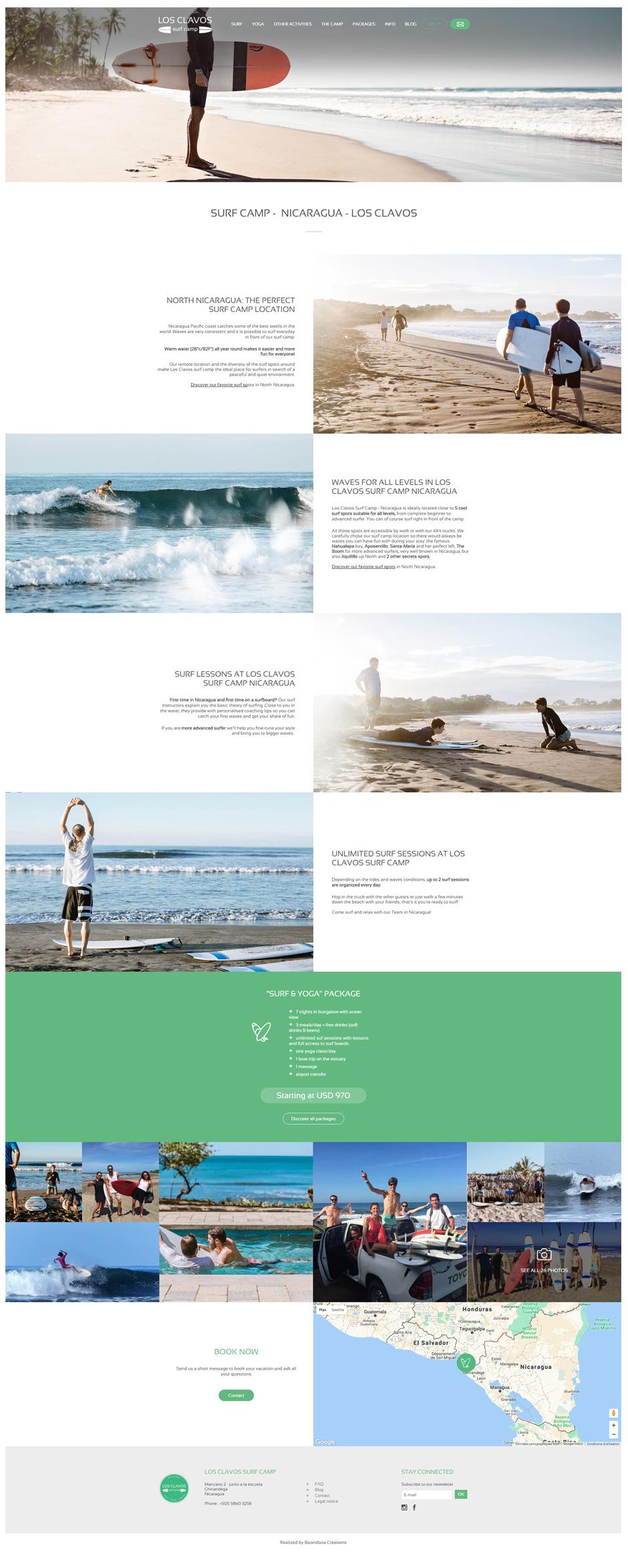 Page Surf site Los Clavos