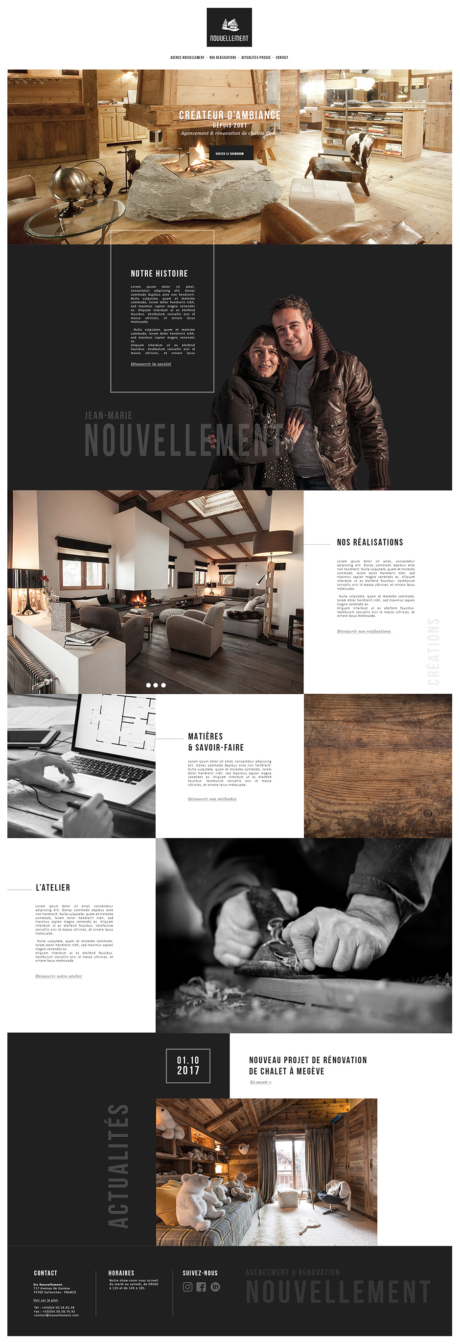 Homepage site Nouvellement