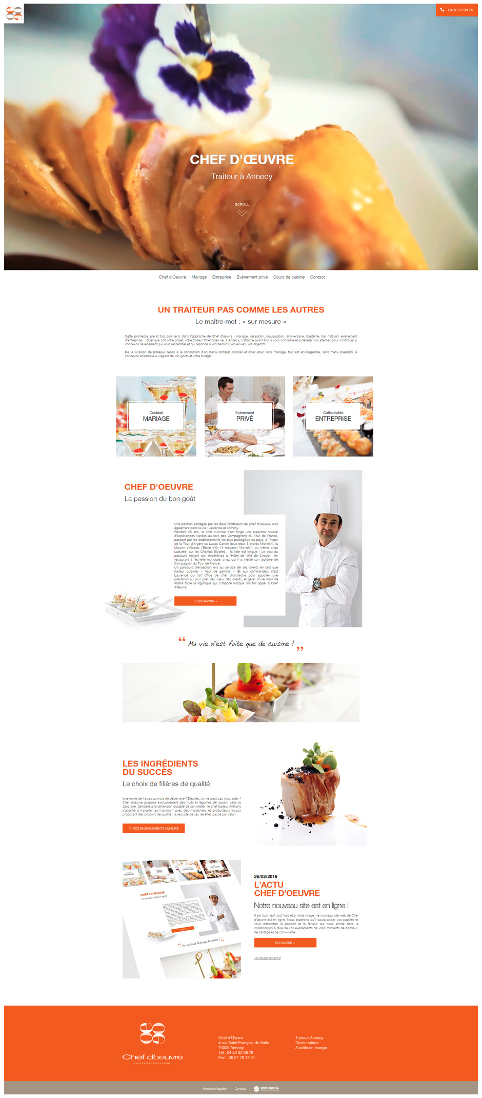 Cr ation conception site internet annecy boondooa - Chef d oeuvre ...