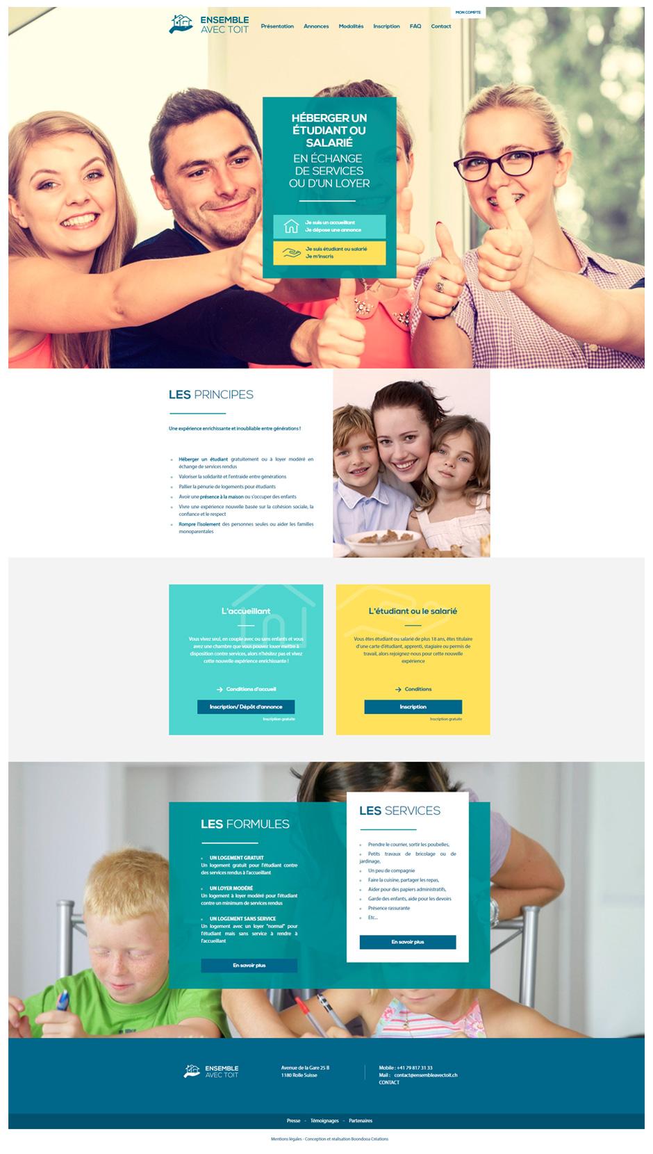 Homepage site Ensemble avec toit