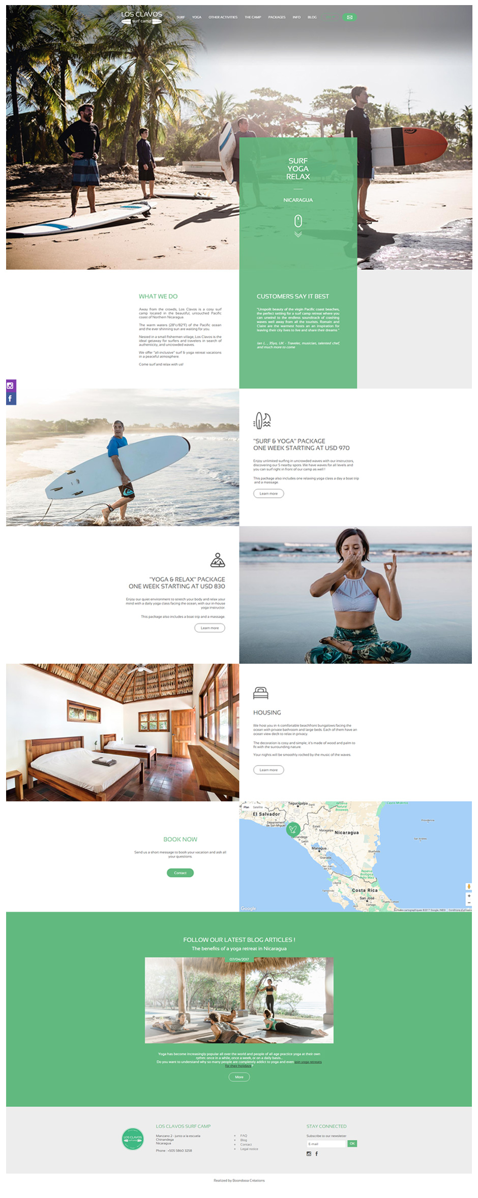 Homepage site Los Clavos