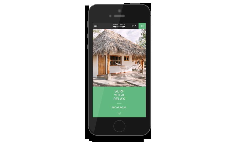 Responsive mobile site Los Clavos